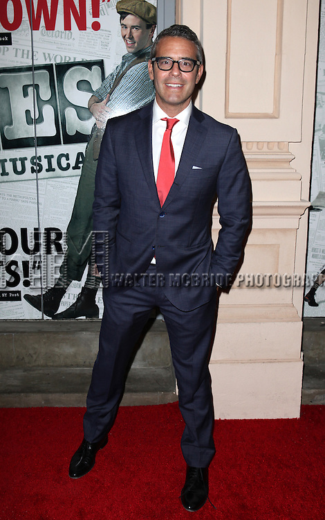 Andy Cohen.attending the Broadway Opening Night Performance of.'Newsies - The Musical' at the Nederlander Theatre in NewYork City on 3/29/2012 © Walter McBride / WM Photography
