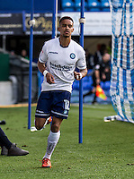 Paris Cowan-Hall of Wycombe Wanderers scores and celebrates his goal during the FA Cup 1st round match between Portsmouth and Wycombe Wanderers at Fratton Park, Portsmouth, England on the 5th November 2016. Photo by Liam McAvoy.