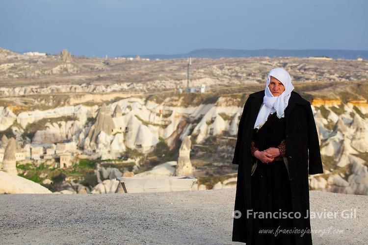 Elderly woman in Capadocia, Turkey