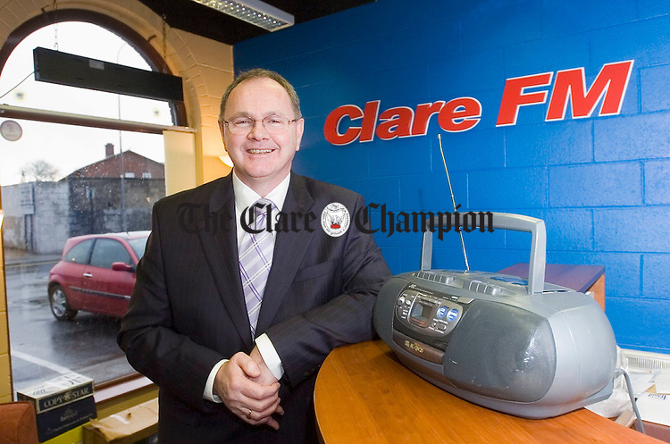 Liam O Shea, CEO of Clare Fm. Photograph by John Kelly.