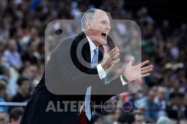 Caja Laboral's coach Dusko Ivanovic during Supercopa ACB Final match.October 1,2011. (ALTERPHOTOS/Acero)