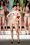 Miss Universe Japan 2016 winner Sari Nakazawa, competes in the swimsuit category during the finals of Miss Universe Japan at Hotel Chinzanso Tokyo on March 1, 2016, Tokyo, Japan. The 23 year-old from Shiga Prefecture captured the crown and will represent Japan at the next Miss Universe international competition. (Photo by Rodrigo Reyes Marin/AFLO)