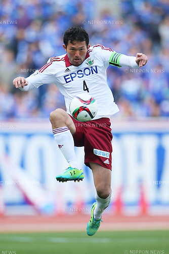 Masaki Iida (Yamaga), <br /> FEBRUARY 21, 2015 - Football / Soccer :<br /> 2015 J.League Pre-season match between <br /> Yokohama F Marinos 0-1 Matsumoto Yamaga FC <br /> at Nissan Stadium in Kanagawa, Japan. <br /> (Photo by Yohei Osada/AFLO SPORT) [1156]