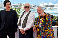 """Adam Driver, Jonathan Pryce & Terry Gilliam at the photocall for """"The Man Who Killed Don Quixote"""" at the 71st Festival de Cannes, Cannes, France 19 May 2018<br /> Picture: Paul Smith/Featureflash/SilverHub 0208 004 5359 sales@silverhubmedia.com"""