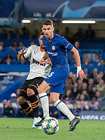 Chelsea's Jorginho during the UEFA Champions League match between Chelsea and Valencia  at Stamford Bridge, London, England on 17 September 2019. Photo by Andrew Aleksiejczuk / PRiME Media Images.