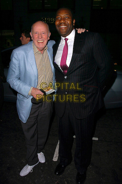 "RICHARD WILSON & LENNY HENRY.After Party for the  UK Film Premiere of ""Wah Wah"", .Sketch, London, England, .May 30th 2006..full length arm around shoulder.Ref: CAN.www.capitalpictures.com.sales@capitalpictures.com.©Can Nguyen/Capital Pictures"