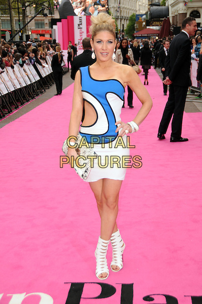 "HOFIT GOLAN .""The Back-Up Plan"" UK Film Premiere, Vue cinema Leicester Square, London, England, UK, 28th April 2010..full length  white blue sixties one shoulder cut out dress hand on hip clutch bag open toe cut out shoes sandals booties ankle boots booties .CAP/CAS.©Bob Cass/Capital Pictures."