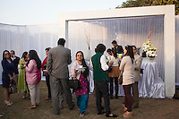 Guests mingle at the high tea event after the Argyle Pink Diamond Cup, organised as part of the 2013 Oz Fest in the Rajasthan Polo Club grounds in Jaipur, Rajasthan, India on 10th January 2013. Photo by Suzanne Lee