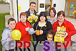 COLLECTING: Volunteers with the Daffodil Day collection in Ballyheigue on Friday who remembered their friend Mary Drury who died last week, l-r: Luke McCrohan, Anne Hawkes, Seamus Falvey, Lisa Flaherty, Eimear Flaherty, Paige Drury, Margaret Flaherty.
