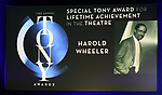 Special Tony Award for Lifetime Achievement in the Theatre to Harold Wheeler during The 73rd Annual Tony Awards Nominations Announcement on April 30, 2019 in New York City.
