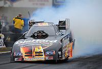 Oct. 2, 2011; Mohnton, PA, USA: NHRA funny car driver Matt Hagan during the Auto Plus Nationals at Maple Grove Raceway. Mandatory Credit: Mark J. Rebilas-
