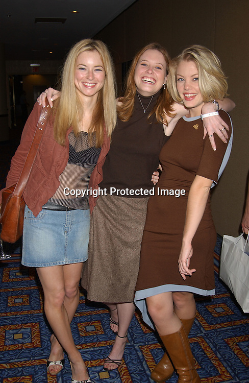 ..Jessica Morris,  Melissa Archer and Bree Williamson      ..at the Ninth Annual Daytime Television Salutes St. Judes Children's Research Hospital benefit in New York City on ..October 10, 2003 at the Marriott Marquis Hotel.
