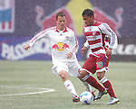 15 April 2007: Dallas's Ramon Nunez (10) controls the ball in front of New York's Seth Stammler (6). The New York Red Bulls defeated FC Dallas 3-0 at Giants Stadium in East Rutherford, New Jersey in an MLS Regular Season game.