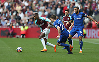 West Ham United's Edimilson Fernandes<br /> <br /> Photographer Rob Newell/CameraSport<br /> <br /> The Premier League - West Ham United v Everton - Sunday 13th May 2018 - London Stadium - London<br /> <br /> World Copyright &copy; 2018 CameraSport. All rights reserved. 43 Linden Ave. Countesthorpe. Leicester. England. LE8 5PG - Tel: +44 (0) 116 277 4147 - admin@camerasport.com - www.camerasport.com