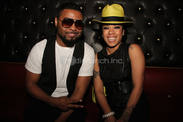 LOS ANGELES, CA - JANUARY 24: Keyshia Cole, Musiq SoulChild backstage at the Beats Music Official Launch Party from Beats by Dr. Dre at Belasco Theatre on January 24, 2014 in Los Angeles, California. Credit: Walik Goshorn/MediaPunch