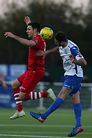 Sean Marks of AFC Hornchurch and Matt Johnson of Enfield Town during AFC Hornchurch vs Enfield Town, Velocity Trophy Final Football at Parkside on 10th April 2019