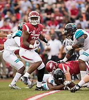 Hawgs Illustrated/BEN GOFF <br /> David Williams, Arkansas running back, carries in the third quarter against Coastal Carolina Saturday, Nov. 4, 2017, at Reynolds Razorback Stadium in Fayetteville.