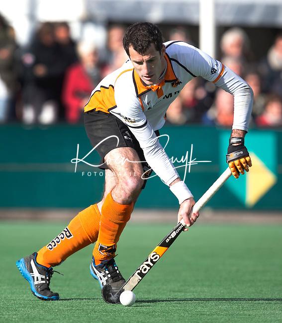 BLOEMENDAAL - HOCKEY - Marcel Balkesteijn van OZ  tijdens de hoofdklasse competitiewedstrijd tussen de mannen van Bloemendaal en Oranje-Zwart (2-2). FOTO KOEN SUYK