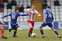 Ben Sheaf of Stevenage evades Harry Pickering of Crewe Alexandra during Stevenage vs Crewe Alexandra, Sky Bet EFL League 2 Football at the Lamex Stadium on 10th March 2018