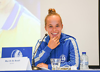 20190819 – GENT, BELGIUM : Gent's Marith De Bondt pictured during a pre-season press conference presenting the new players  , new staff and new methods for the next season 2019-2020 for the AA Gent Ladies in the Belgian top division – The Superleague -  , Monday 19 th August 2019 at the Ghelamco Stadium in GENT  , Belgium  .  PHOTO SPORTPIX.BE | DAVID CATRY