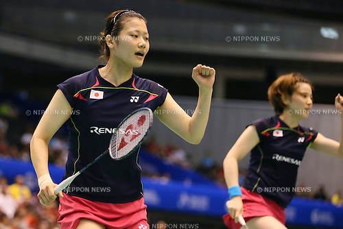 Reika Kakiiwa & Miyuki Maeda (JPN), June 13, 2014 - Badminton : Yonex Open Japan 2014 Women's Doubles at Tokyo Metropolitan Gymnasium, Tokyo, Japan. (Photo by Yohei Osada/AFLO SPORT) [1156]