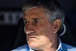 Coach Enrique Setien Solar, Quique Setien, of Real Betis reacts prior the La Liga 2017-18 match between Real Madrid and Real Betis at Estadio Santiago Bernabeu on 20 September 2017 in Madrid, Spain. Photo by Diego Gonzalez / Power Sport Images