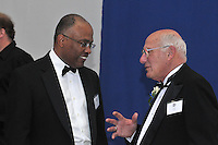 Kurt Schmoke and Carm Cozza. Yale University Department of Athletics Blue Leadership Ball 2009. Formal Dinner at the Lanman Center, Presentation of Awards to Blue Leader Honorees and Speaches.