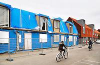 Nederland Zaandam 2016 . Huizen in aanbouw . Foto Berlinda van Dam / Hollandse Hoogte