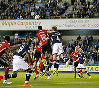 GOAL - Ipswich Town's Jordan Spence heads home during the Sky Bet Championship match between Millwall and Ipswich Town at The Den, London, England on 15 August 2017. Photo by Carlton Myrie.