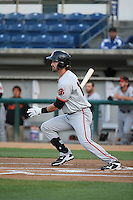 Steven Duggar (12) of the San Jose Giants bats against the Rancho Cucamonga Quakes at LoanMart Field on May 23, 2016 in Rancho Cucamonga, California. San Jose defeated Rancho Cucamonga, 4-2. (Larry Goren/Four Seam Images)