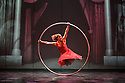 London, UK. 18.02.2015. Dance Consortium presents Cirque Eloize in CIRKOPOLIS, at the Peacock Theatre. Picture shows: Lea Toran Jenner on the Cyr. Photograph © Jane Hobson.