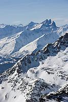 Europe/France/Rhone-Alpes/73/Savoie/Val-Thorens : Massif de l'Oisans ou des Ecrions vu du sommet de la Cime Caron (3200m)