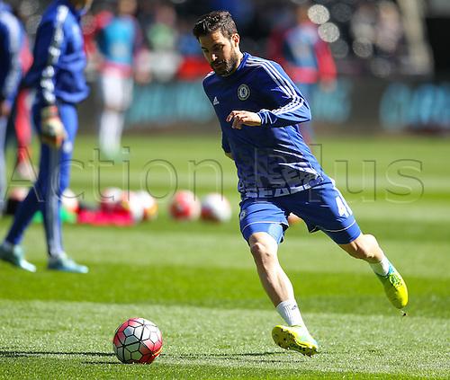 09.04.2016. Liberty Stadium, Swansea, Wales. Barclays Premier League. Swansea versus Chelsea. Chelsea's Cesc Fàbregas