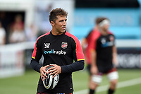 Gavin Henson of the Dragons looks on during the pre-match warm-up. Pre-season friendly match, between Ealing Trailfinders and the Dragons on August 11, 2018 at the Trailfinders Sports Ground in London, England. Photo by: Patrick Khachfe / Onside Images