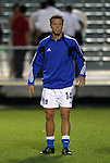 27 March 2004: Wizards midfielder Jack Jewsbury warms up before the match. Los Angeles Galaxy defeated the Kansas City Wizards 1-0 at SAS Stadium in Cary, NC in the final preseason game for both Major League Soccer teams as part of the Cary Pro Kickoff Invitational tournament..