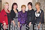 Pictured at the Lee Strand Social on Saturday night held In Ballygarry House Hotel and Spa were l-r: Rita Jones (Kielduff) Doreen Pierse (Ballyseedy) Elena Ó Muirchearthaigh (Dingle) Esther O'Sullivan (Kilgarvan) and Catherine O'Dwyer (Tonevane).