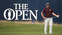 Ryan Moore (USA) completes Round One of the 145th Open Championship, played at Royal Troon Golf Club, Troon, Scotland. 14/07/2016. Picture: David Lloyd | Golffile.<br /> <br /> All photos usage must carry mandatory copyright credit (&copy; Golffile | David Lloyd)