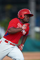 Philadelphia Phillies Josh Tobias (26) during an instructional league game against the Toronto Blue Jays on October 3, 2015 at the Carpenter Complex in Clearwater, Florida.  (Mike Janes/Four Seam Images)