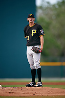 Pittsburgh Pirates Clay Holmes (83) during a minor league Spring Training intrasquad game on April 3, 2016 at Pirate City in Bradenton, Florida.  (Mike Janes/Four Seam Images)