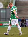 Michael Woods of Yeovil leaves the field after receiving a red card. - Yeovil Town v Stevenage - npower League 1 - Huish Park, Yeovil - 14th April, 2012 . © Kevin Coleman 2012..
