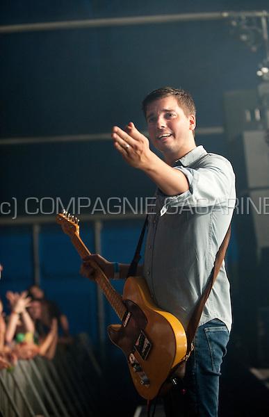 Concert of the Belgian rock band The Sore Losers at the Zeverrock festival, in Zevergem (Belgium, 09/08/2014)