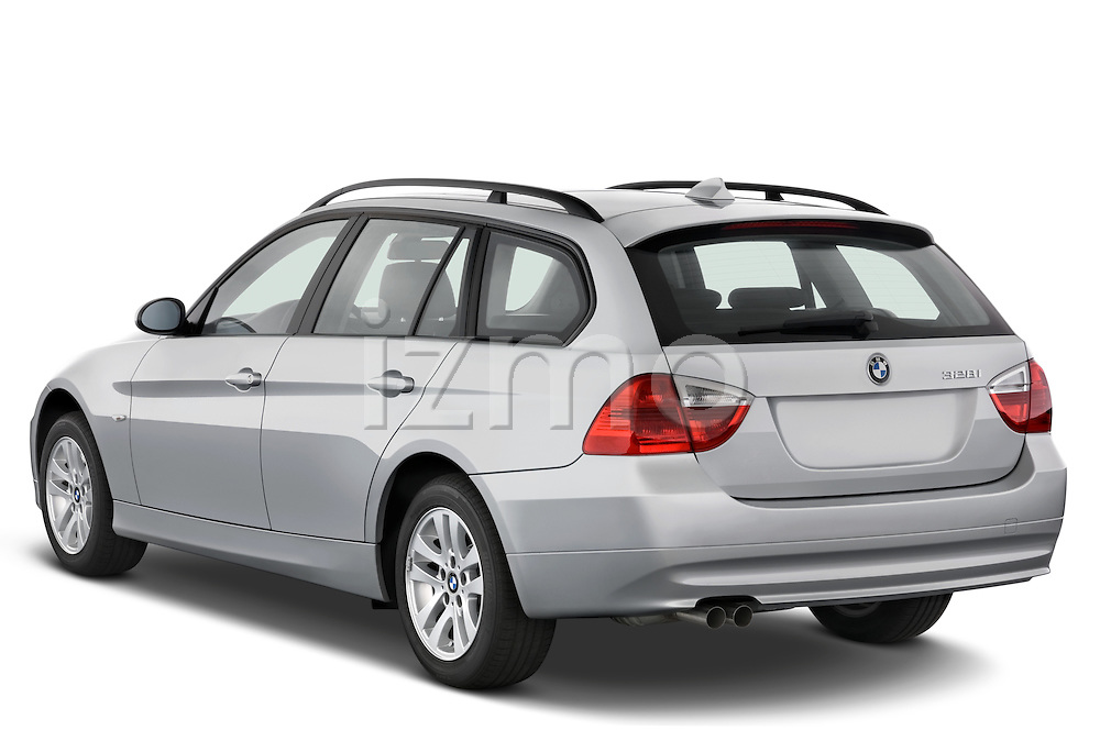 Rear three quarter view of a 2005 - 2008 BMW 3-Series 328i Wagon.