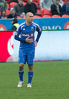 20 October 2012: Montreal Impact forward Marco Di Vaio #9 in action during an MLS game between the Montreal Impact and Toronto FC at BMO Field in Toronto, Ontario..The game ended in a 0-0 draw..