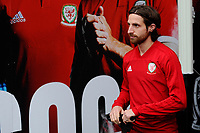 Joe Allen of Wales during the Wales Training Session at the Cardiff City Stadium in Cardiff, Wales, UK. Thursday 15 November 2018
