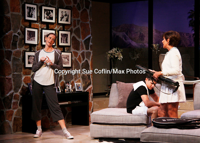 "As The World Turns' Colleen Zenk stars along with the cast - Brenda Withers and Davy Raphaely in ""Other Desert Cities"" at the tech rehearsal (in costume) on October 14, 2015 at Whippoorwill Halll Theatre, North Castle Library, Kent Place, Armonk, New York.  (Photo by Sue Coflin/Max Photos)"