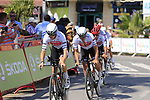 Trek-Segafredo recon Stage 1 of La Vuelta 2019, a team time trial running 13.4km from Salinas de Torrevieja to Torrevieja, Spain. 24th August 2019.<br /> Picture: Eoin Clarke | Cyclefile<br /> <br /> All photos usage must carry mandatory copyright credit (© Cyclefile | Eoin Clarke)