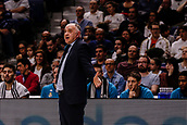 25th March 2018, Madrid, Spain; Endesa Basketball League, Real Madrid versus Valencia; Pablo Laso Coach of Real Madrid Baloncesto