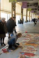 Italien, Piemont, Hauptstadt Turin: Via Roma, Pflastermaler | Italy, Piedmont, capital Torino: Via Roma, screever, pavement artist