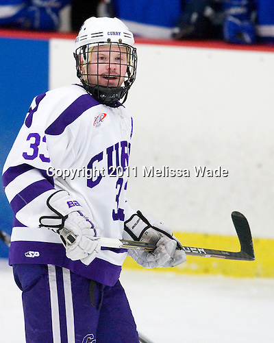 Ryan Warsofsky (Curry - 33) - The Curry College Colonels defeated the Becker College Hawks 5-1 in their ECAC Northeast Semi-Final matchup on Wednesday, March 2, 2011, at Max Ulin Rink in Milton, Massachusetts.