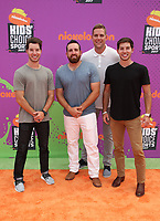 LOS ANGELES, CA July 13- Coby Cotton, Tyler Toney, Cody Jones, Cory Cotton, At Nickelodeon Kids' Choice Sports Awards 2017 at The Pauley Pavilion, California on July 13, 2017. Credit: Faye Sadou/MediaPunch